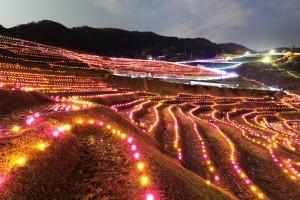 白米千枚田LEDライトアップ